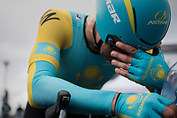 Alexey Lutsenko (KAZ/Astana) post-finish<br /> <br /> Men Elite Individual Time Trial<br /> <br /> UCI 2017 Road World Championships - Bergen/Norway
