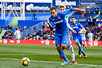 Nicolas Ezequiel Gorosito of Getafe (L) in action against Ivan Alejo of SD Eibar (R) during the La Liga 2017-18 match between Getafe CF and SD Eibar at Coliseum Alfonso Perez Stadium on 09 December 2017 in Getafe, Spain. Photo by Diego Souto / Power Sport Images
