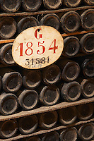 old bottles in the cellar 1854 ferreira port lodge vila nova de gaia porto portugal