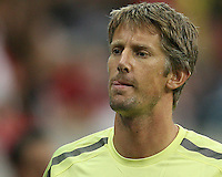 Edwin Van Der Sar #1 of Manchester United during the 2010 MLS All-Star match against the MLS All-Stars at Reliant Stadium, on July 28 2010, in Houston, Texas.MANU won 5-2.