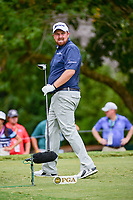 Shane Lowry (IRL) watches his tee shot on 5 during Friday's round 2 of the PGA Championship at the Quail Hollow Club in Charlotte, North Carolina. 8/11/2017.<br /> Picture: Golffile | Ken Murray<br /> <br /> <br /> All photo usage must carry mandatory copyright credit (&copy; Golffile | Ken Murray)