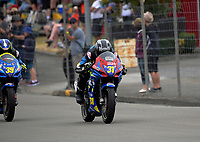 Tarbon Walker (Whangarei) competes in the Gixxer Cup. The 2017 Suzuki series Cemetery Circuit motorcycle racing at Cooks Gardens in Wanganui, New Zealand on Tuesday, 27 December 2017. Photo: Dave Lintott / lintottphoto.co.nz