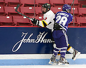 Andrew Yarber (WIT - 7), Jake Heisinger (Curry - 28) - The Wentworth Institute of Technology Leopards defeated the visiting Curry College Colonels 1-0 on Saturday, November 23, 2013, at Walter Brown Arena in Boston, Massachusetts.