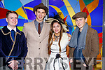 At the Mercy Mounthawk Secondary School annual musical Dress Rehearsal My Fair Lady, l-r, Pierce O'Brien (Col Pickering), Seamus Harty (Prof Higgins), Lauren Griffin (Eliza Dolittle) and Sean Galvin (Alfie Dolittle).