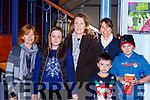 Honora Chamberlain, Meadhbh Salmon, Tara Chamberlain, Grainne, Cillian and Diarmuid O'Shea at the Snowman in the INEC on Sunday