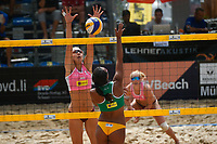 VADUZ, LIECHTENSTEIN, 10.08.2019- FIVB BEACH VOLLEYBALL WORLD TOUR: Pleun Ypma (E) da Holanda e Mariota Angelopulou (C) do Chipredurante a partida das quartas de final a contar para o torneio FIVB Beach Volleyball World Tour Star1 na Beacharena, em Vaduz, Liechtenstein, nesse sabado 10. (Foto: Bruno de Carvalho / Brazil Photo Press)
