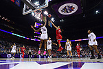 COLUMBUS, OH - MARCH 30: Asia Durr #25 of the Louisville Cardinals shoots over Teaira McCowan #15 of the Mississippi State Bulldogs during a semifinal game of the 2018 NCAA Division I Women's Basketball Final Four at Nationwide Arena in Columbus, Ohio. (Photo by Ben Solomon/NCAA Photos via Getty Images)
