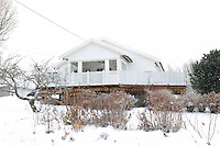 Lund Farm, situated on the outskirts of Oyeren in Sweden, is surrounded by a blanket of snow