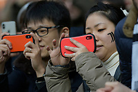 6th January 2020; Allianz Stadium, Turin, Italy; Serie A Football, Juventus versus Cagliari; Asian supporters of Juventus take pictures of the players - Editorial Use