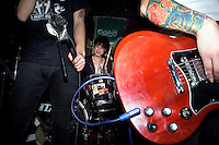 The Chinese psychobilly band the Angry Jerks perform during a concert at Castle Bar in Nanjing, China.