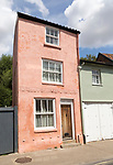 Unusual tall thin house building in Church Street, Woodbridge, Suffolk, England, UK