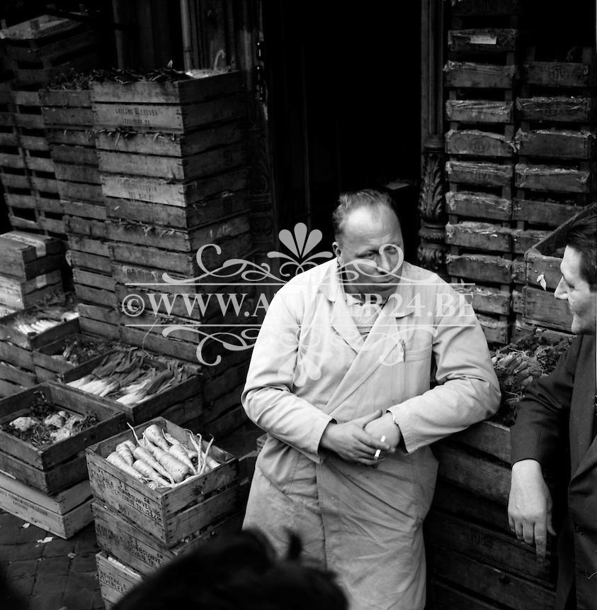 Groentenmarkt in Antwerpen in 1963.