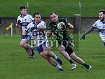 Dundalk Young Irelands Johnny Lynch St Brigid's Shay Hannon. Photo:Colin Bell/pressphotos.ie