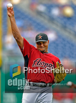 12 July 2008: Houston Astros left fielder Carlos Lee warms up prior to a game against the Washington Nationals at Nationals Park in Washington, DC. The Astros defeated the Nationals 6-4 in the second game of their 3-game series...Mandatory Photo Credit: Ed Wolfstein Photo