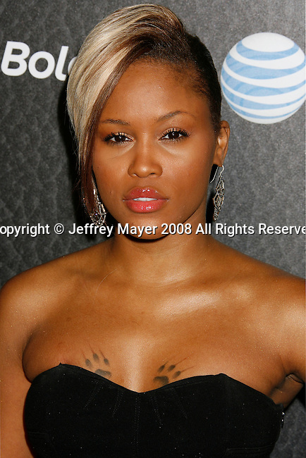BEVERLY HILLS, CA. - October 30: Singer Eve arrives at the Blackberry Bold launch party at a private residence on October 30, 2008 in Beverly Hills, California.