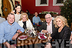 On New Year's Eve in Sol y Sombra, Tapas Bar & Restaurant, Killorglin<br /> John Foley, Cliodhna Foley, Ann Foley, Nick Foley & Mary Foley-Stapleton