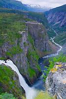 Veringoss Waterfall   600 foot waterfall  Hardanger Fjord, Western Fjords, Norway  UNESCO World Heritage Site
