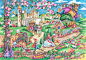 Interlitho, CHILDREN, KINDER, NIÑOS, paintings+++++,fairy tale scene,KL4475,#k#,puzzles