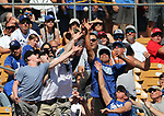 Fans reach for a foul ball in a spring training game between the Arizona Diamondbacks and the Los Angeles Dodgers in Glendale, Ariz., on Friday, March 24, 2017.<br /> Photo by Cathleen Allison/Nevada Photo Source
