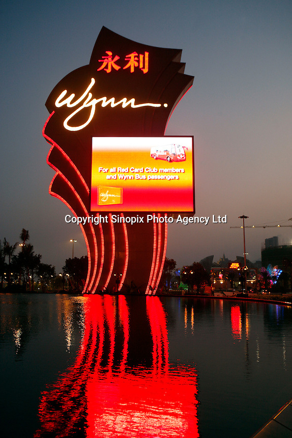 Wynn Casino in Macau. As restrictions on betting liscences have become open to tender international Casino operators such as Wynn, Sands and MGM are making huge investments into Macau which is becoming the Vegas of the East and is driven by the massive Chinese gambling market on the former Portuguese colony's doorstep..