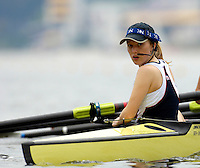 Poznan, POLAND.  2006, FISA, Rowing World Cup, GBR W8+,cox  Caroline O'CONNER.  guides the eight onto the start pontoon at the   'Malta Regatta course;  Poznan POLAND, Fri. 16.06.2006. © Peter Spurrier   ....[Mandatory Credit Peter Spurrier/ Intersport Images] Rowing Course:Malta Rowing Course, Poznan, POLAND