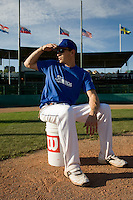 BASEBALL - GREEN ROLLER PARK - PRAGUE (CZECH REPUBLIC) - 23/06/2008 - PHOTO: CHRISTOPHE ELISE.COACH FABIEN PROUST (TEAM FRANCE)