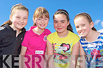 Keeping fit at the Castleisland Area Primary Schools athletics in Castleisland on Tuesday was l-r: Tamara Horan, Aoife O'Connor, Marie Fleming and Lorraine Hanrahan