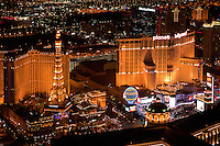 aerial photograph night time Planet Hollywood Resort and Casino, Las Vegas, Clark County, Nevada