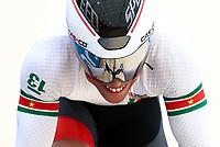 Picture by Alex Whitehead/SWpix.com - 10/12/2017 - Cycling - UCI Track Cycling World Cup Santiago - Velódromo de Peñalolén, Santiago, Chile - Suriname's Jair Tjon En Fa in action during the Men's Sprint qualifying.