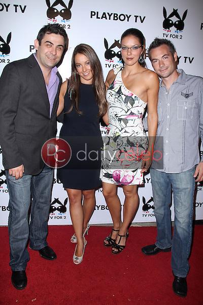 Phil Viardo, Krystel Hope, Adrianne Curry, Brian Galperin<br /> at the Playboy TV 'TV For 2' TCA Red Carpet Event, Playboy Mansion, Los Angeles, CA. 07-27-11<br /> David Edwards/Dailyceleb.com 818-249-4998