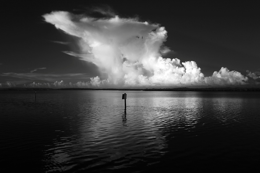 Morning storm photographed using infrared Canon 5D Mark II camera in Florida's Everglades National Park out of Chokoloskee Island and the 10,000 Islands National Wildlife Refuge. Photo/Andrew Shurtleff