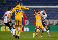 Bolton Wanderers' Mark Beevers competing with Wigan Athletic's Will Grigg<br /> <br /> Photographer Andrew Kearns/CameraSport<br /> <br /> The EFL Sky Bet Championship - Bolton Wanderers v Wigan Athletic - Saturday 1st December 2018 - University of Bolton Stadium - Bolton<br /> <br /> World Copyright © 2018 CameraSport. All rights reserved. 43 Linden Ave. Countesthorpe. Leicester. England. LE8 5PG - Tel: +44 (0) 116 277 4147 - admin@camerasport.com - www.camerasport.com