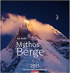 SOLD OUT!<br /> <br /> 2013 Mountains of Myth <br /> <br /> Oversized Wall Calendar <br /> <br /> 13 color photos by Art Wolfe<br /> <br /> International: In English, German, and French<br /> <br /> Oversized at 18x19 inches (46x48cm)<br /> <br /> Available online at<br /> http://www.amazon.de/Mythos-Berge-2013-Mountains-Montagnes/dp/3840056136/ref=pd_sim_sbs_b_5