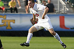 15 November 2009: Virginia's Will Bates scores the game's only goal. The University of Virginia Cavaliers defeated the North Carolina State University Wolfpack at WakeMed Stadium in Cary, North Carolina in the Atlantic Coast Conference Men's Soccer Tournament Championship game.