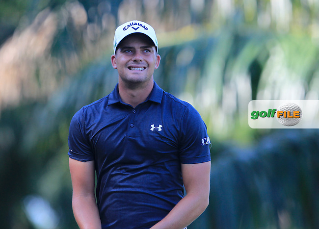 Haydn Porteous (RSA) on the 5th tee during Round 4 of the Maybank Championship on Sunday 12th February 2017.<br /> Picture:  Thos Caffrey / Golffile<br /> <br /> All photo usage must carry mandatory copyright credit     (&copy; Golffile | Thos Caffrey)