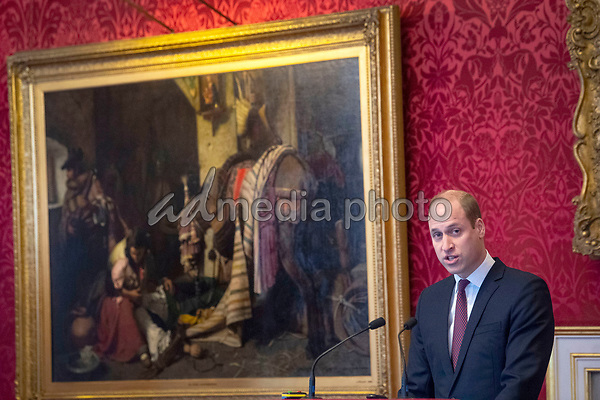 21/01/2020 - Prince William Duke of Cambridge, as President of United for Wildlife, makes a speech during the meeting of the United for Wildlife Taskforces at St James's Palace, London. Photo Credit: ALPR/AdMedia