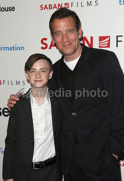"15 March 2016 - Hollywood, California - Jaeden Lieberher, Clive Owen. ""The Confirmation"" Los Angeles Premiere held at NeueHouse Hollywood. Photo Credit: Sammi/AdMedia"