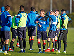 Greg Docherty training with his new Rangers team mates for the first time