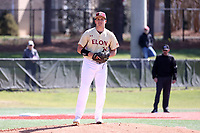 ELON, NC - MARCH 1: Dean McCarthy #26 of Elon University stands on the mound during a game between Indiana State and Elon at Walter C. Latham Park on March 1, 2020 in Elon, North Carolina.