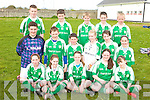 Central National School, Ballyduff, Front from left: Jemma Griffin, Sarah CAsey, Megan O'Connor, Danielle Robinson and Mairead Dowling..Middle Row: Sean Browne, Ian Lawlor, Sean Griffin, Sarah Casey, Clodagh Walsh and Helen Dowling..Back Row: Kevin Ross, Darragh Daly, Dylan McCarthy, Eoin Ross and Brendan Gorman pictured at the Kerry national schools 5 a side soccer Blitz at Christy Leahy Park, Cahermoneen, Tralee on Tuesday.