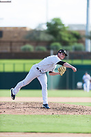 Glendale Desert Dogs relief pitcher Hobie Harris (41), of the New York Yankees organization, follows through on his delivery during an Arizona Fall League game against the Scottsdale Scorpions at Camelback Ranch on October 16, 2018 in Glendale, Arizona. Scottsdale defeated Glendale 6-1. (Zachary Lucy/Four Seam Images)