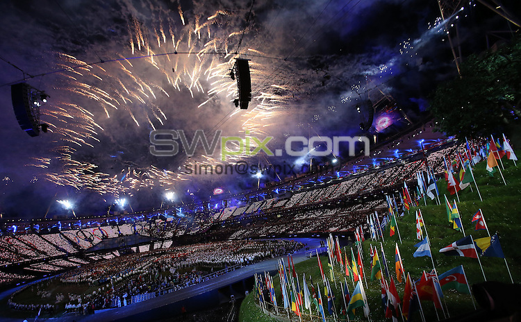 PICTURE BY VAUGHN RIDLEY/SWPIX.COM - London 2012 Olympic Games - Opening Ceremony - Olympic Stadium, Olympic Park, London, England - 27/07/12 - GV, General View.
