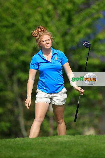 Sophie Keech (ENG) on the 7th tee during Round 1 of the Irish Women's Open Strokeplay Championship at Dun Laoghaire Golf Club on Saturday 23rd May 2015.<br /> Picture:  Thos Caffrey / www.golffile.ie