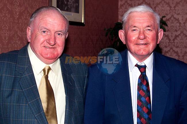 Niall O'Connor and Nicky McCartney at the 40th Anniversray celebration for St. Joseph's GFC in Bellingham Castle..Picture: Paul Mohan/Newsfile