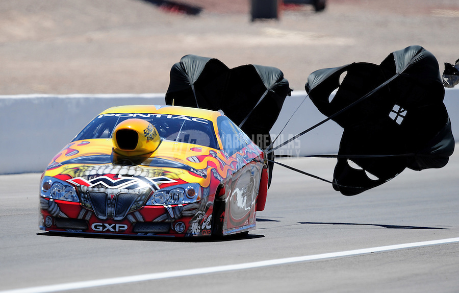 Apr. 13, 2008; Las Vegas, NV, USA: NHRA pro stock driver Jim Yates during the SummitRacing.com Nationals at The Strip in Las Vegas. Mandatory Credit: Mark J. Rebilas-