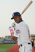 Brooklyn Cyclones infielder Amed Rosario (1) during game against the Williamsport Crosscutters at MCU Park on July 21, 2014 in Brooklyn, NY.  Brooklyn defeated Williamsport  5-2.  (Tomasso DeRosa/Four Seam Images)