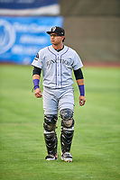 Javier Guevara (6) of the Grand Junction Rockies before the game against the Ogden Raptors at Lindquist Field on July 25, 2018 in Ogden, Utah. The Rockies defeated the Raptors 4-0. (Stephen Smith/Four Seam Images)