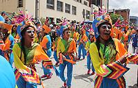 PASTO- COLOMBIA, 2-01-2018: Los niños inauguraron el Carnaval de Blancos y Negros con el Carnavalito / The children inaugurated the Blancos  y Negros Carnival.Photo: Vizzorimage / Leonardo Castro  / Contribuidor
