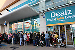 FREE PIC - NO REPRO FEE<br /> 24/09/2015 - Blackpool, Cork<br /> Customers waiting for the doors to open before the official opening of the new Dealz store at Blackpool Retail Park, Cork.<br /> Pic: Brian Lougheed