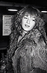 Ellen Barkin after a performance in 'EXTEREMITIES'  at the Westside Arts Theatre on January 17, 1983 in New York City.